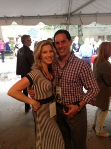 Carolyn and Chris at Toronto Taste. The couple attend every year.